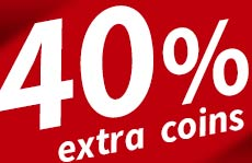 Win 40% extra coins on the Dirty Double!